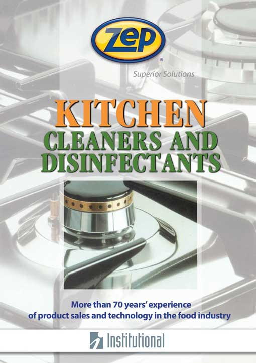 Kitchen cleaners and disinfectants