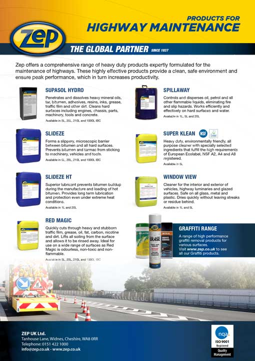 Products for highway maintenance